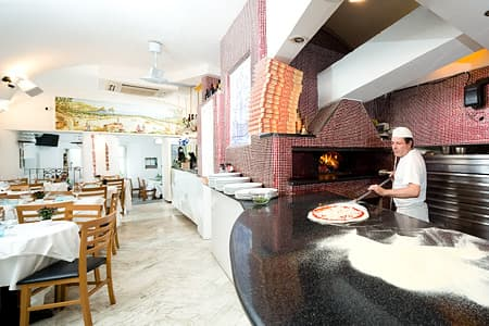 Pizzeria on Capri with wood oven